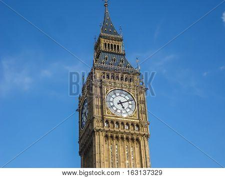 Big Ban Elizabeth Tower Clock Face, London