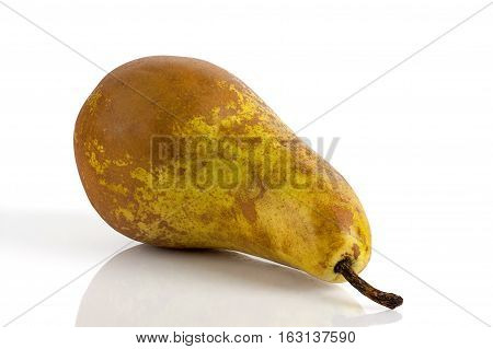 ripe juicy pear on a light background