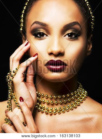 Beautiful Golden Glamour Woman