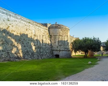 The Famous Knights Grand Master Palace In Rhodes Greece