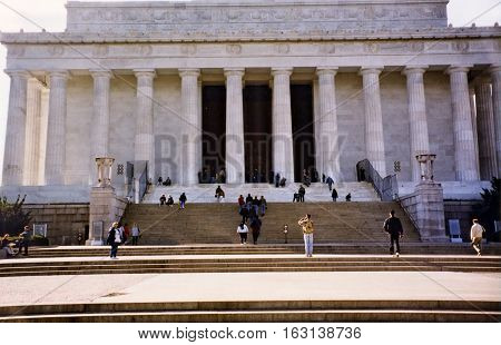 Lincoln National Memorial in Washington USA October 1997