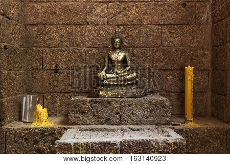 The Buddha statue in the temple of Thailand