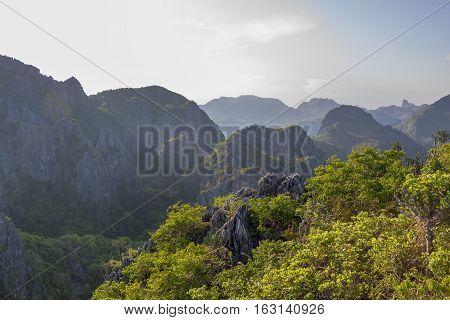 Mountain in Prachuap Khiri Khan Province of Thailand