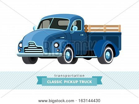 Classic Pickup Truck Front Side View