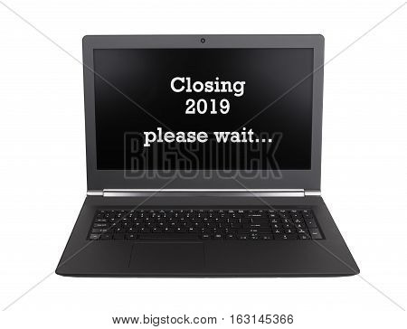 Laptop Isolated - New Year - 2019 - 2020