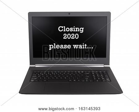 Laptop Isolated - New Year - 2020 - 2021