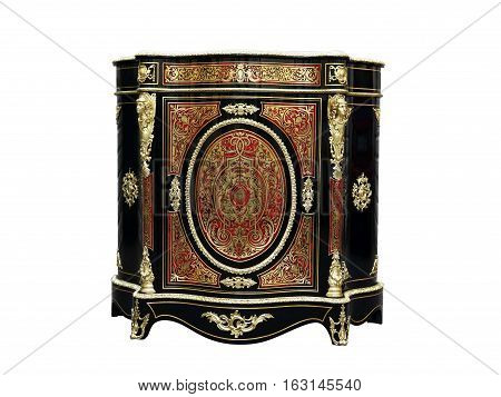 19th century Boulle Cabinets French Sideboard inlay with red tortoise shell and brass