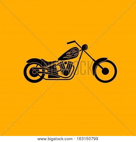 motorbike low rider icon, vector illustration logo