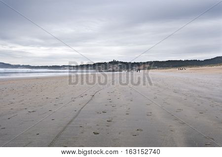 La Lanzada Beach Pontevedra Galicia Spain. It is one of the top three beaches in Galicia