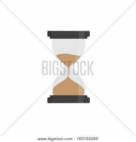 Flat Design Of Hourglass, sand glass illustration