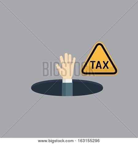 People Hand On TAX Hole illustration vector