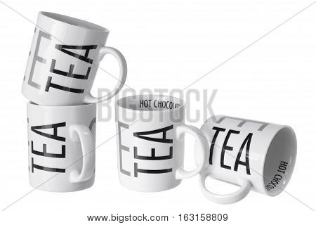 Tea  Mugs on an Isolated White Background