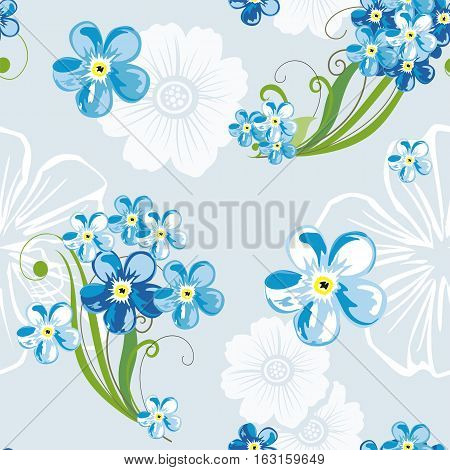 Elegant Floral Seamless Pattern Background For Your Design