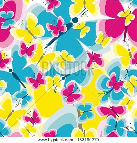 Seamless Pattern With Butterfly Background For Your Design