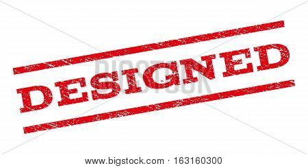 Designed watermark stamp. Text tag between parallel lines with grunge design style. Rubber seal stamp with dust texture. Vector red color ink imprint on a white background.