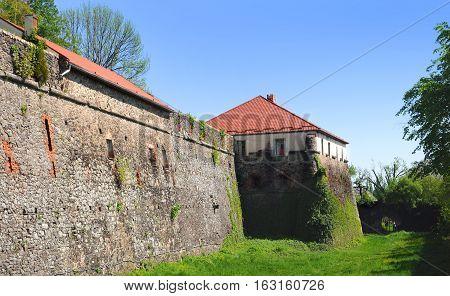 High Stone Wall Of The Uzhhorod Castle