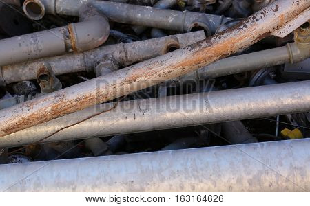 Old Iron Pipes And Other Ferrous Material