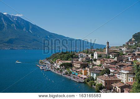 Limone Sul Garda On A Sunny Day