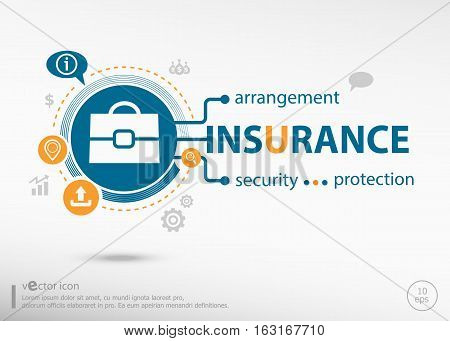 Insurance Protection Info And Marketing Concept.