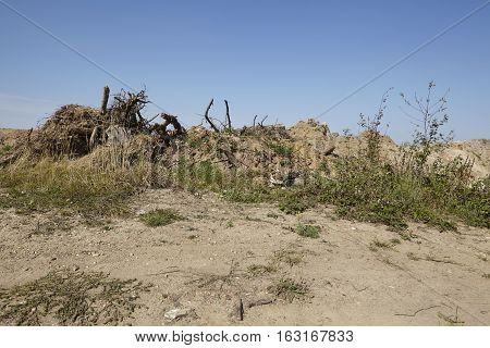 Merzenich - Dug Up Landscape Near Opencast Mine Hambach