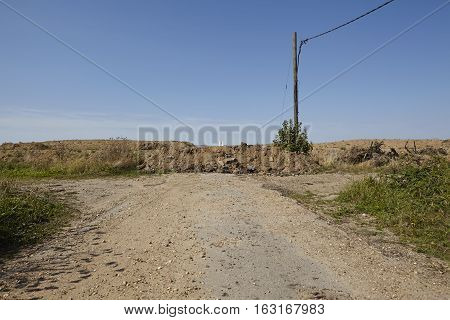 Merzenich - Road Ends Near Opencast Mine Hambach