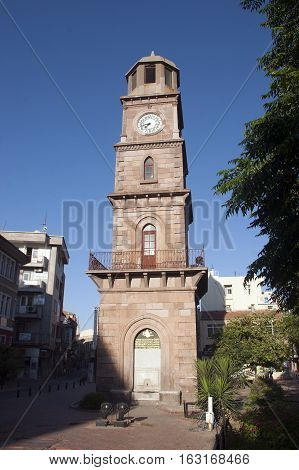Historical clock tower in Canakkale town center