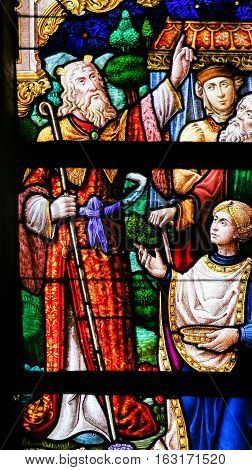 Stained Glass - Moses