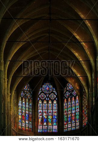 Stained Glass In Ghent Cathedral