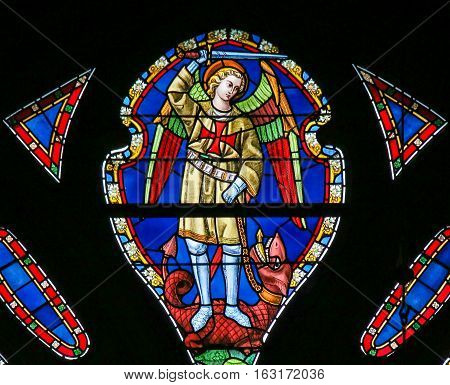 Stained Glass - Saint Michael The Dragonslayer