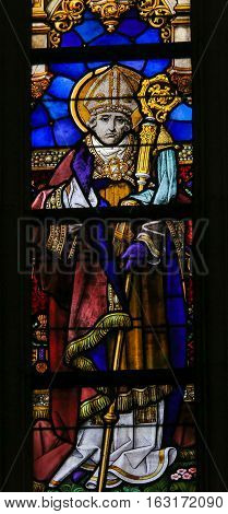 Stained Glass - Saint Landoald Of Ghent