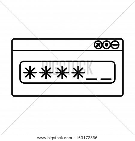 Password icon. Security system warning and protection theme. Isolated design. Vector illustration