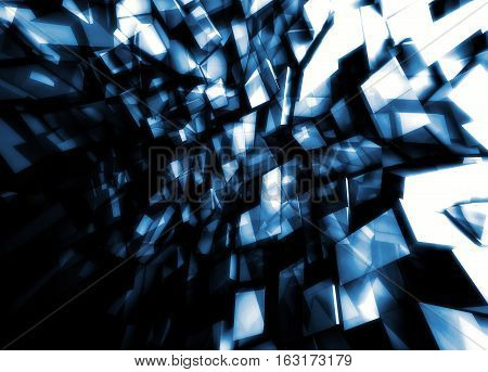 Abstract Square 3 D Digital Background