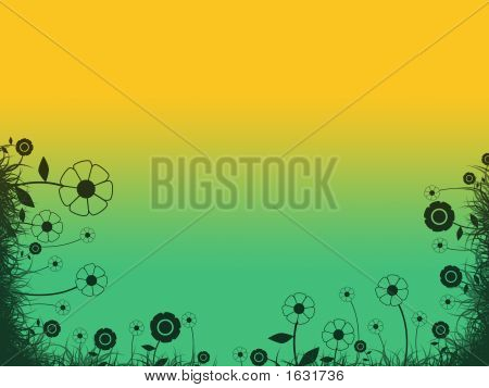 Retro Background With Flowers