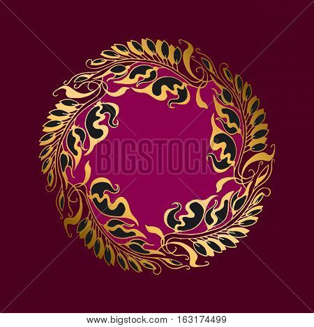 purpur  flower Art Nouveau style vector illustration
