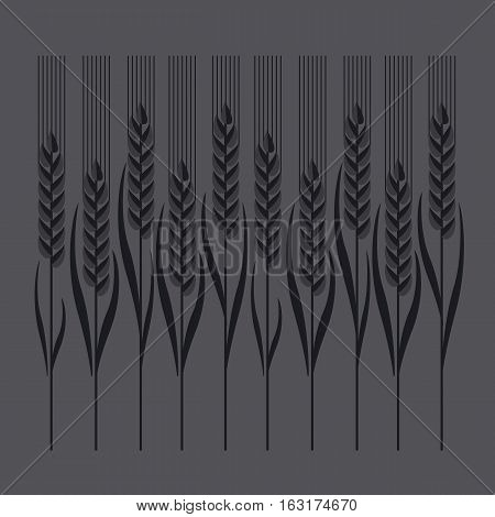 wheat vector illustration in concept elegant style