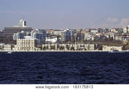 Istanbul cityscape on the nice spring day