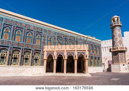 Katara lions cultural village, Doha on the sunny day