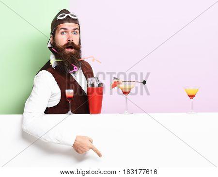 Surprised Handsome Bearded Pilot