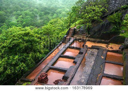 Beautiful vew from Sigiriya Lion Rock Sri Lanka