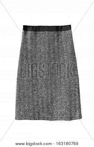 Elegant tweed pencil skirt isolated over white