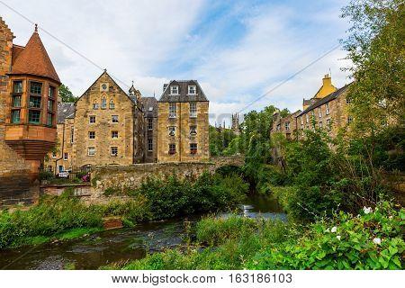Dean Village In Edinburgh, Scotland