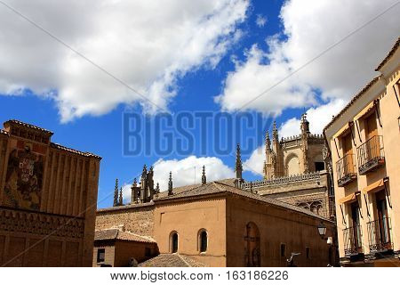 Old buildings on the streets of Toledo, Spain