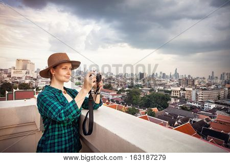 Tourist Photograph In Bangkok