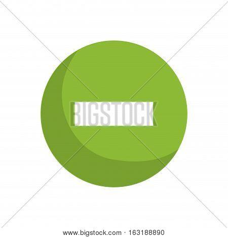 Subtraction button sign icon vector illustration graphic design