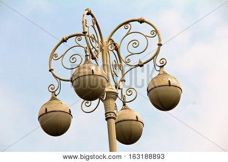 Ornate Street Lighting in Croatia's capital city of Zagreb