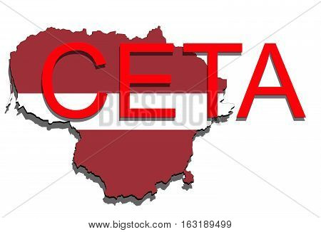 Ceta - Comprehensive Economic And Trade Agreement, Lithuania Map