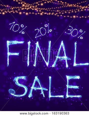 Big Final Sale, Special Hot Sale Offer Background