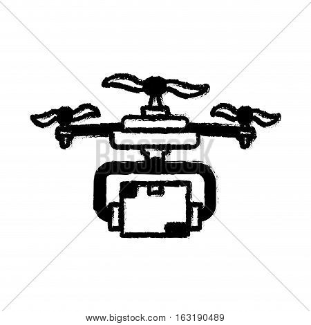 Drone robot technology icon vector illustration graphic design