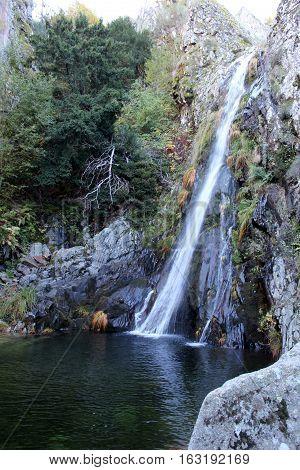 Poço do Inferno Waterfall, Serra da Estrela, Portugal