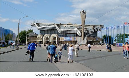 05.07.2015.Russia.Saint-Petersburg.Lenexpo is the venue of exhibitions and various cultural and economic activities.